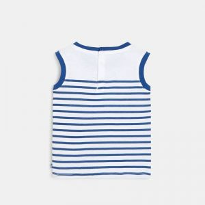Striped jersey tank top