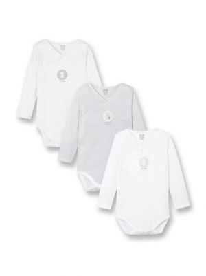 Long-sleeved crossover bodysuits (set of 3) 96690