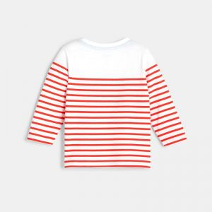 Striped t-shirt with a sea motif