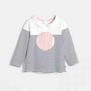 Striped t-shirt with motif