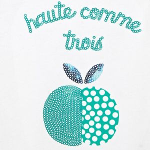 T-shirt with a sequined motif