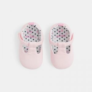 Microfiber T-strap baby shoes