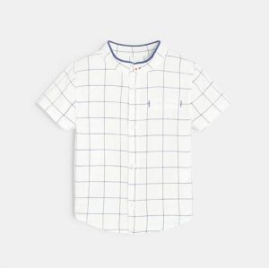 Shirt with thin checks