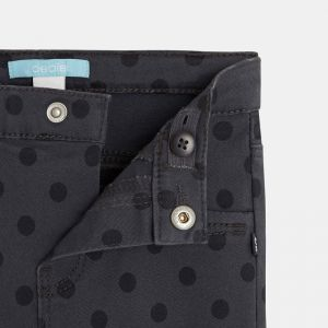 Twill treggings with a polka-dot print