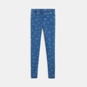 Treggings with faded motifs 96690