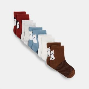 Colorful socks with animals (5-pair set)96679