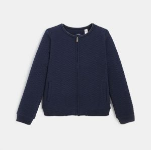 Zipped sweatshirt with a sherpa lining