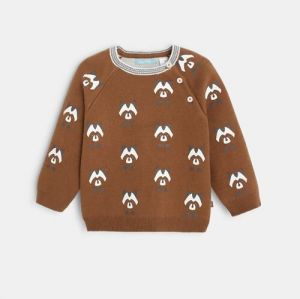 Double-sided sweater with animal motifs96567
