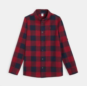Checkered shirt with an American collar