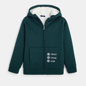 Zipped and lined hoodie