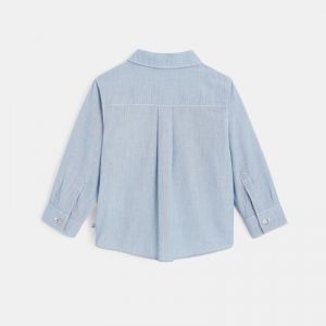 End-by-end shirt with denim finishes