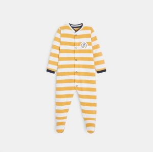 Striped jersey footed sleeper