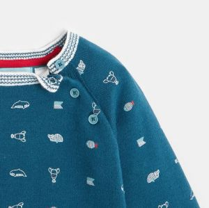 Double-sided sweater with animal motifs
