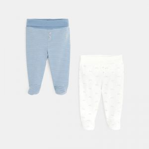 Knit pants with feet (2-pair set) 98514