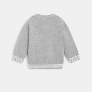 Knit sweater with bear