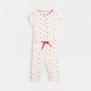 Knit jumpsuit with printed koalas