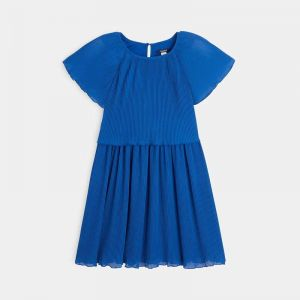 Pleated voile dress 99040