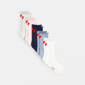 Socks with little hearts (5-pair set)