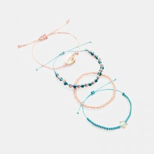 Braided and bead bracelets