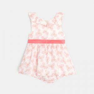 Flowery frilled dress and bloomer shorts