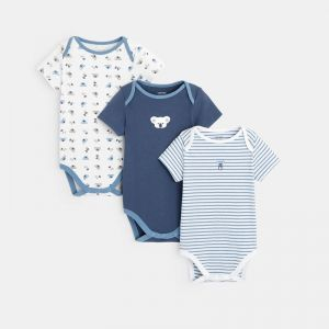Bodysuit with a US collar and a loala print (set of 3)