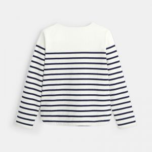 Striped t-shirt that can be personalized with a heart
