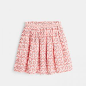 Pleated skirt with flowers