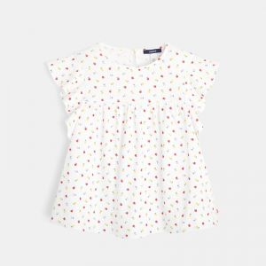 T-shirt with printed multicolored fruit