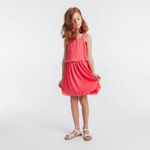 Pleated strapped dress