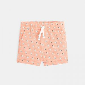Knit shorts with printed palm trees